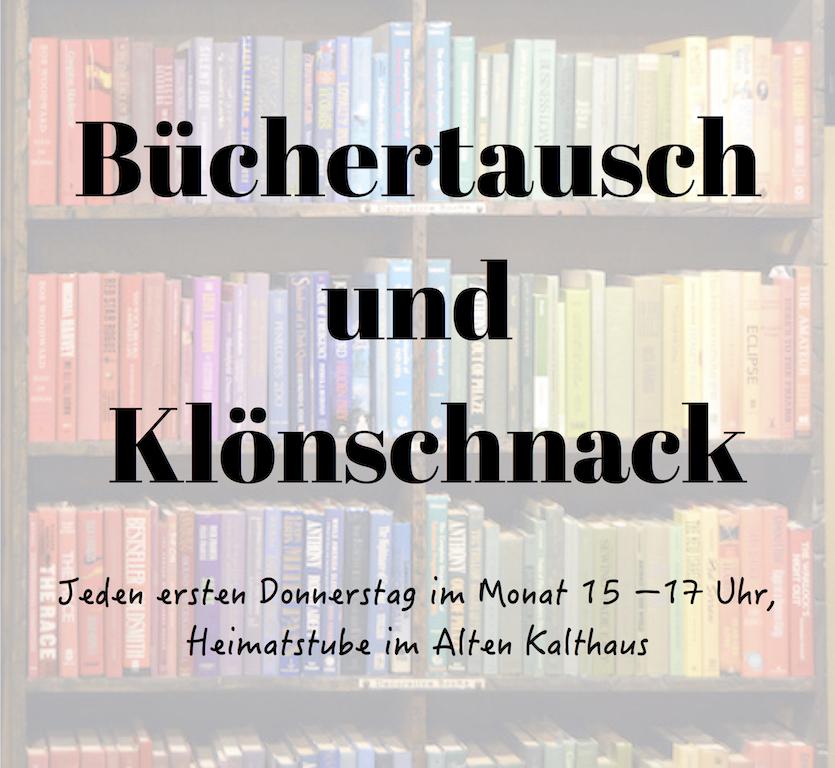 Büchertausch und Klönschnack im Alten Kalthaus